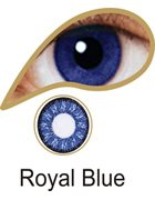 Coloured Contact Lenses with Free Solution & Case - Royal Blue (3 Months)