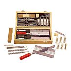 Miter Box Hobby Knife Saw Set, 30 Piece, Modeling, Craft Carving Tools, X WoodWorking, Miniature Model Builder, Wood Carving, Acto Blades, Balsa Sander, Sanding Block, Wedge Scriber New
