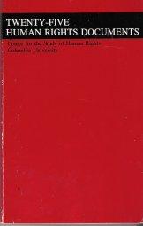 Twenty Five Human Rights Documents