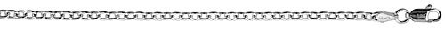 Sterling Silver Classic Italian Cable Necklace Chain 2.8mm wide Nickel Free, 8 inch Bracelet