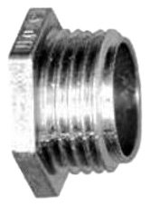 Bridgeport 1107-DC 2-Inch Zinc Die Cast Insulated Throat Conduit Nipple, with Non-Insulated Threaded Male Hex Head, 10-Pack