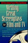 Writing Great Screenplays for Film and TV (067184783X) by Dona Cooper