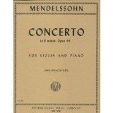 Mendelssohn Felix Concerto in e minor Op 64 Violin and Piano by Zino Francescatti - International PDF
