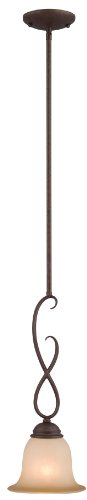 Hardware House 10-0977 Bennington 1-Light Mini Pendant, Antique Bronze (House Hardware compare prices)