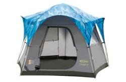 Gelert Oxygen 4 Person Family Dome Tent Paloma Blue Grey / Camo.