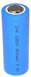 3.2V 800MAH LIFEPO4 IFR18500 Lithium Battery