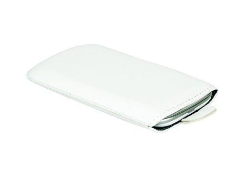 M0129 Slimcase Handytasche Ledertasche Leder Handyhülle SL Weiß für Samsung Galaxy Trend Plus (GT-S7580)