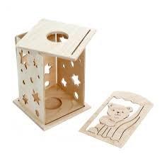 diewald hess holzspielzeug holz laterne b r zum selber basteln baby. Black Bedroom Furniture Sets. Home Design Ideas