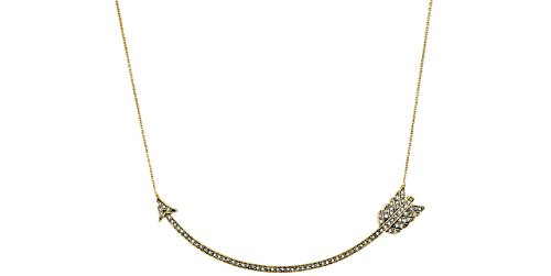 House of Harlow 1960 collana Arrow Affair, doratura oro 14 carati, brillanti