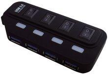 MediaRange-MRCS505-USB-30-Hub-14-mit-seperate-switches-power-supply