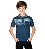 Pure Cotton Fair Isle Polo Shirt