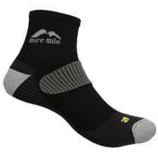 Adults More Mile cushioned paie LONDON running socks in Black