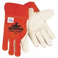 Memphis Glove 127-4921 Cow Mig & Tig Welders Gloves, Large, Cowhide, Cotton Lining, White, Russet from Memphis Glove