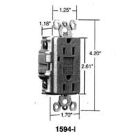 Buy 2 Pack of 1595ICC10 (1594)15A GFCI IVORY (PASS & SEYMOUR LEGRAND ,Lighting & Electrical, Electrical, Circuit Breakers Fuses & Load Centers, Fuses)