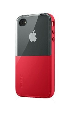 Belkin Eclipse Shield Cover for iPhone 4, Red