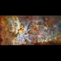 Hubble Telescope Wall Mural: The Carina Nebula - 24 X 48 By Xentrex
