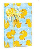 Baby Shower Rubber Ducky Gift Wrap Wrapping Paper - Bright & Vivid