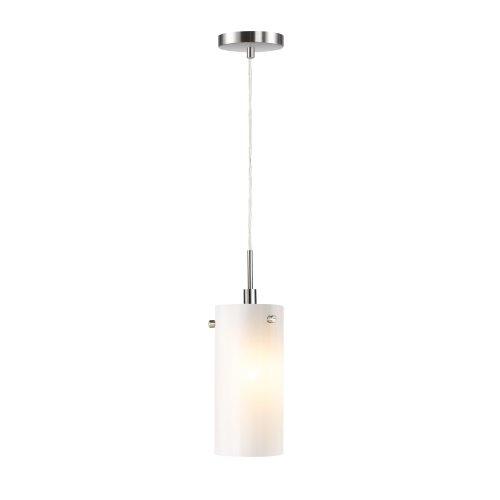 Woodbridge Lighting 13423STN-C10401 Eclipse 1-Light Mini Pendant, Satin Nickel