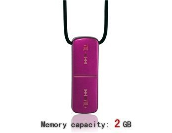 3.5Mm 2G Statistics Tangible Necklace Mp3 Player