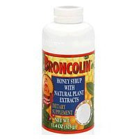 Broncolin Honey Syrup Dietary Supplement, Regular 11.4 Oz, 6 Pack
