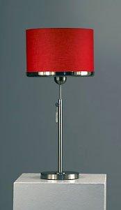 Nova Brim Table Lamp, Brushed Nickel/Red
