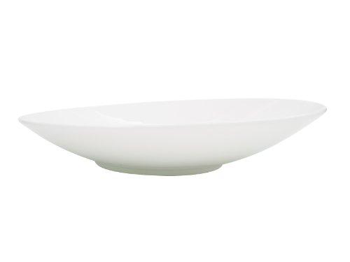 CAC China SHER-21 Sheer 12-Inch Bone White Porcelain Plate, Box of 12