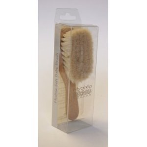 Organic Natural Bristle Baby Hair Brush Soft Goat Hair