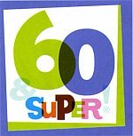 60th The Big Day 13 in. Lunch Napkin - 16/Pkg. by Party Supplies - 1