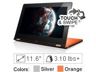 Lenovo IdeaPad Yoga 11S (Touch) - 59370514 - Silver Grey - 3rd Generation Intel Core i5-3339Y (1.50GHz 1600MHz 3MB)
