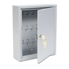 Buddy Products 0128-32 Key Cabinet, 28 Hooks, Steel, 3 x 12 x 10-Inches, Platinum (Key Storage compare prices)