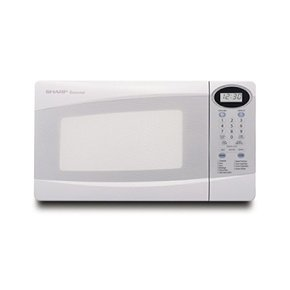 Sharp R-203HW, Compact Microwave Oven, 0.8cft 800W, Digital Controls