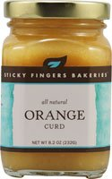 Sticky Fingers Bakeries All Natural Orange Curd -- 8.2 oz