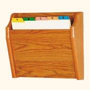Wooden Mallet Tapered Bottom File Holder, Letter Size, Medium Oak