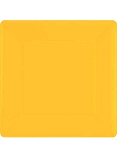 Yellow sunshine square paper plates [Toy]
