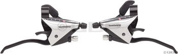 Shimano EF65 3 x 9 Speed Brake/Shift Levers Silver