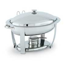 Vollrath Orion Stainless Steel Small Oval Lift-Off Chafer, 4 Quart -- 1 each.