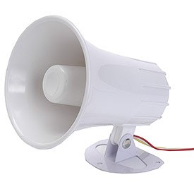 Universal Power Group D1294 SS15 15 Watt Trumpet Style Two Tone Siren