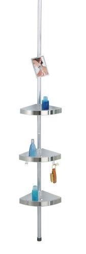 WENKO-20349100-Estantera-telescpica-para-la-ducha-Premium-con-espejo-Aluminio-275-x-70-260-x-20-cm-Satinado