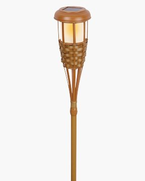 Paradise Gl23922 Solar-Powered Led Bamboo-Finish Torch Light