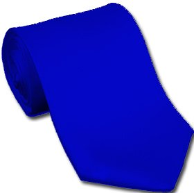 Royal Blue by Neckties Solids Royal Blue polyester ties