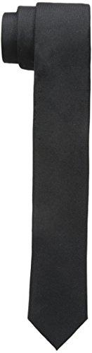 Calvin Klein Men's Skinny Oxford Solid Slim Tie, Black, One Size (Skinny Silk Ties For Men compare prices)