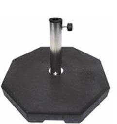 Naturbeton Sonnenschirmständer schwarz, 65 kg