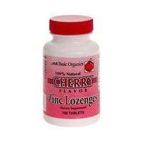 ZINC LOZENGES CHERRY 100 (Basic Organics Inc compare prices)