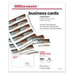 office depot ink jet and laser printable 300 business cards. Black Bedroom Furniture Sets. Home Design Ideas