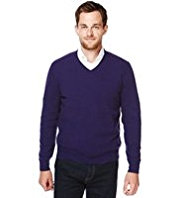 Blue Harbour Luxury Wool Rich V-Neck Jumper with Cashmere