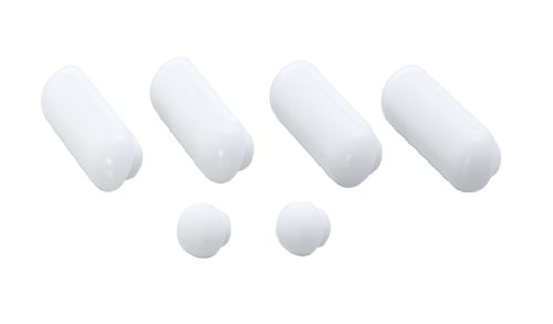 Wenko 298307100 Rest Plugs for Premium Toilet Seat 6-Pack Plastic White