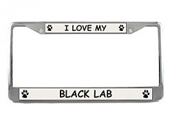 Black Lab License Plate Frame (Chrome) 5 Year Warranty (Lab License Plate Frame compare prices)