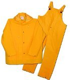 Boss 3PR0300YX Extra Large Yellow 3-Piece Lined PVC Rain Suit