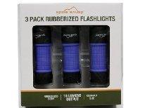 Eddie Bauer 3-Pack Rubberized Flashlights 18 Lumens Output