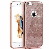 iPhone 6s/iphone 6 4.7 Case, Bling Glitter Detachable Ultra-Thin Electroplating Technology Soft Gel TPU Silicone Back Cases Cover for iPhone 6s/iphone 6 4.7 [Rose Gold]